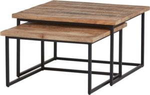 Cuba vierkante salontafel set van 2 big - Best Seller Collection Nijwie Salontafel BSC.CT.0015