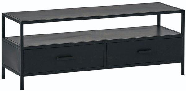 Tv dressoir 120 met 2 lades - Black Metal Collection Nijwie Dressoir BMC.TV.0001