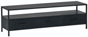 Tv dressoir 150 met 3 lades - Black Metal Collection Nijwie Dressoir BMC.TV.0002