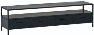 Tv dressoir 175 met 4 lades - Black Metal Collection Nijwie Dressoir BMC.TV.0003