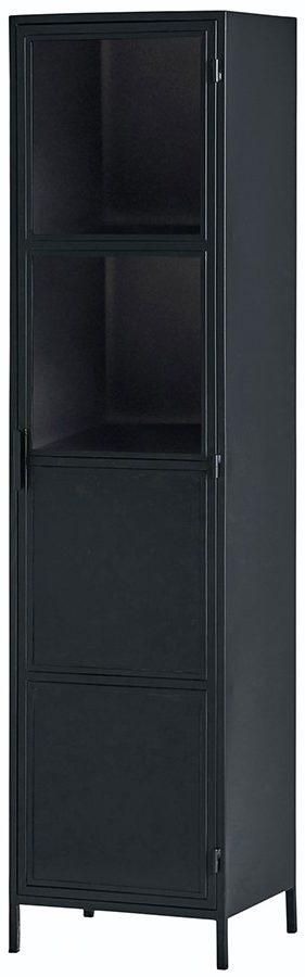 Vitrinekast medium met 1 deur - Black Metal Collection Nijwie Vitrinekast BMC.VI.0005