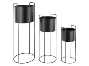 Plant Pot Set Essence - Black PT, Woonaccessoire PT3698BK