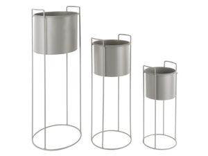 Plant Pot Set Essence - Warm grey PT, Woonaccessoire PT3698GY