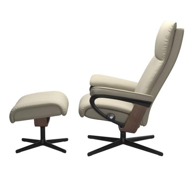 Stressless Aura Cross fauteuil met voetenbank Stressless Relaxfauteuil 1343317094154506
