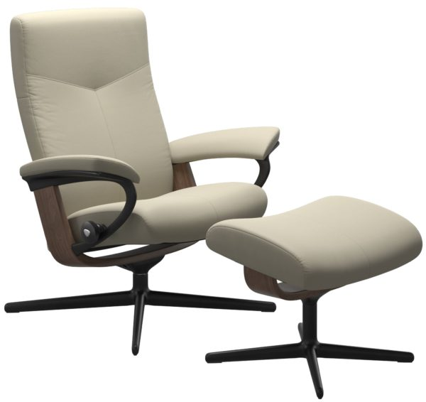 Stressless Dover Cross fauteuil met voetenbank Stressless Relaxfauteuil 1346317094154506