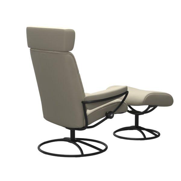 Stressless London Original met hoofdsteun, fauteuil met voetenbank Stressless Relaxfauteuil 13503650941545