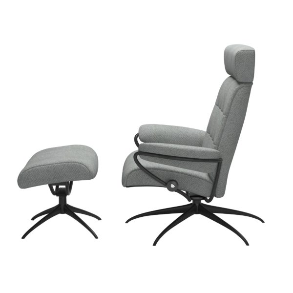 Stressless London Star met hoofdsteun, fauteuil met voetenbank Stressless Relaxfauteuil 13503455941245
