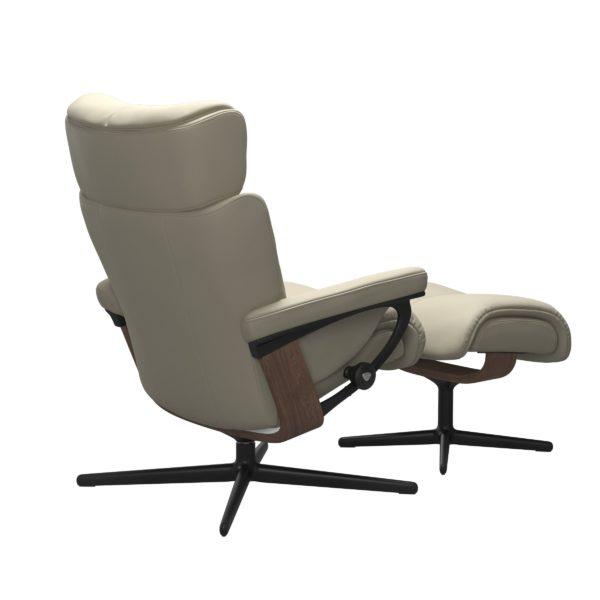Stressless Magic Cross fauteuil met voetenbank Stressless Relaxfauteuil 1144317094154506