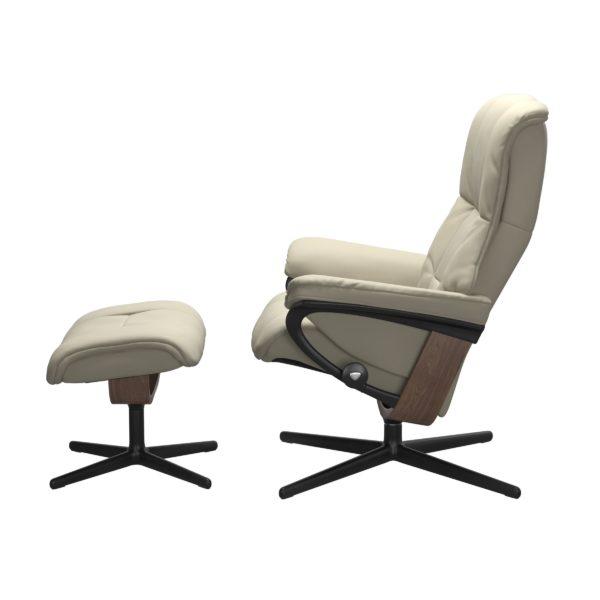Stressless Mayfair Cross fauteuil met voetenbank Stressless Relaxfauteuil 1731317094154506