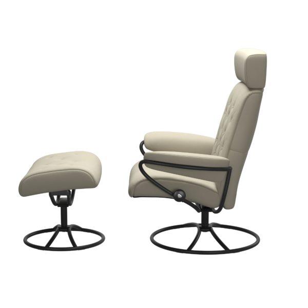 Stressless Metro Original met hoofdsteun, fauteuil met voetenbank Stressless Relaxfauteuil 13903650941545