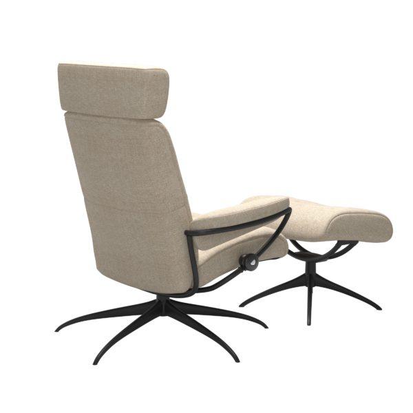 Stressless Metro Star met hoofdsteun, fauteuil met voetenbank Stressless Relaxfauteuil 13903455908045
