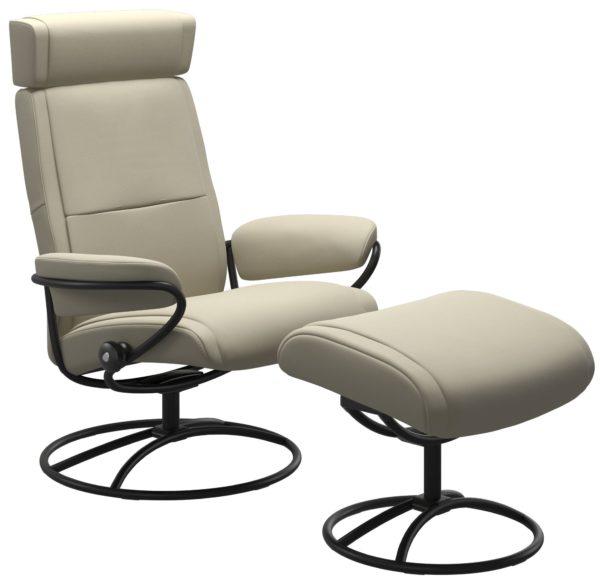 Stressless Paris Original met hoofdsteun, fauteuil met voetenbank Stressless Relaxfauteuil 13483650941545