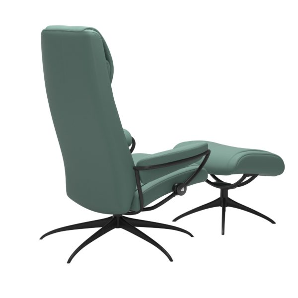 Stressless Paris Star hoog fauteuil met voetenbank Stressless Relaxfauteuil 13383450949245