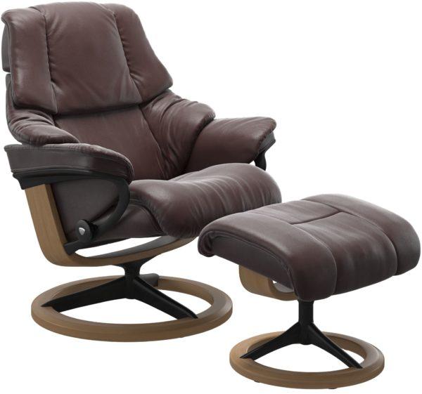 Stressless Reno Signature fauteuil met voetenbank Stressless Relaxfauteuil 1169315091664504