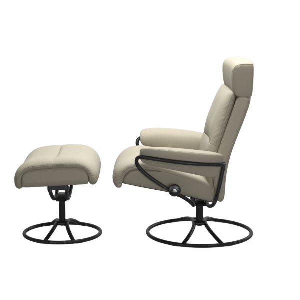 Stressless Tokyo Original met hoofdsteun, fauteuil met voetenbank Stressless Relaxfauteuil 13543650941545