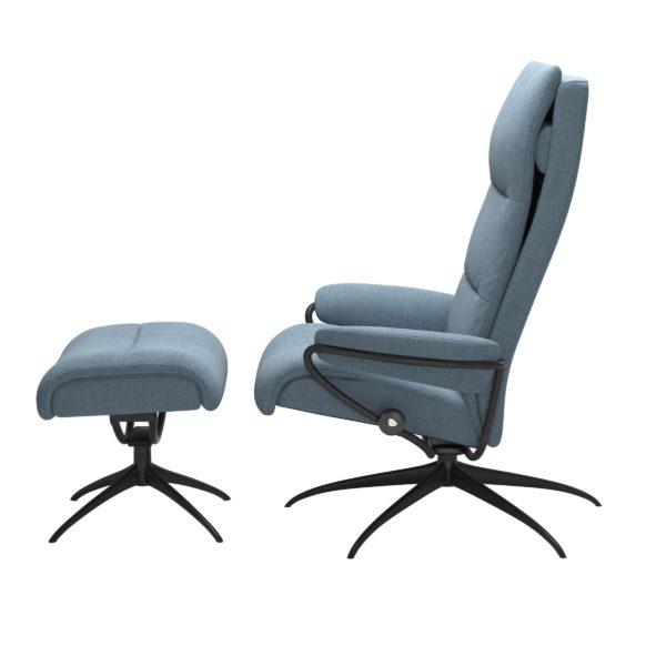 Stressless Tokyo Star hoog fauteuil met voetenbank Stressless Relaxfauteuil 13533455897145