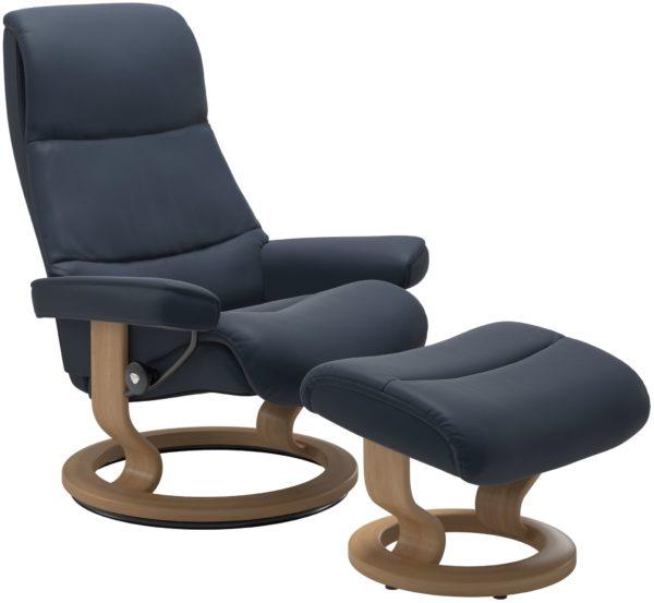 Stressless View Classic fauteuil met voetenbank Stressless Relaxfauteuil 13070150941804