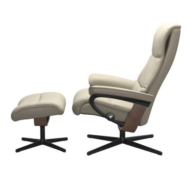 Stressless View Cross fauteuil met voetenbank Stressless Relaxfauteuil 1307317094154506