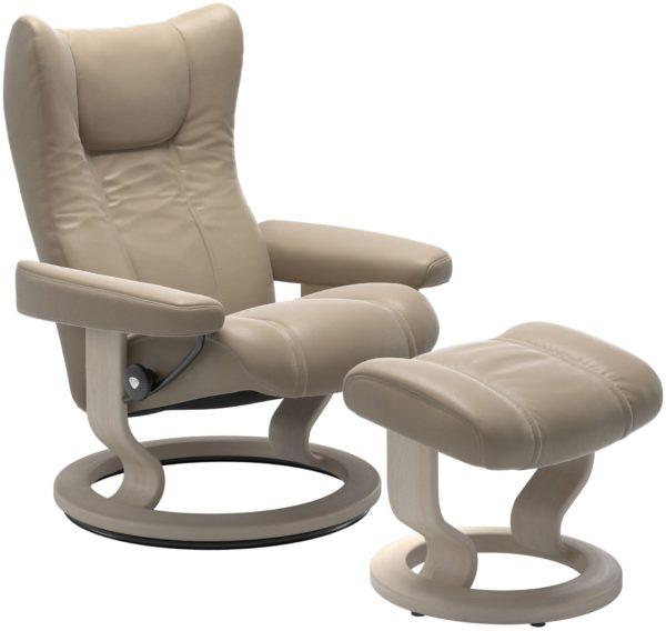 Stressless Wing Classic fauteuil met voetenbank Stressless Relaxfauteuil 11610150913712