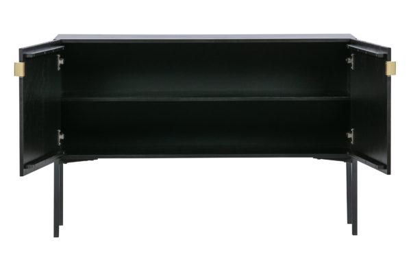 WOOOD Hero Sidetable Hout/metaal Zwart Black Eettafel