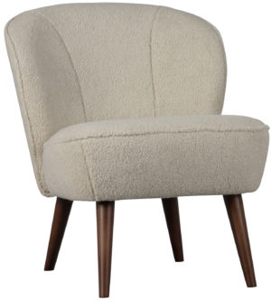 WOOOD Sara Fauteuil Teddy Off White Off white Bank