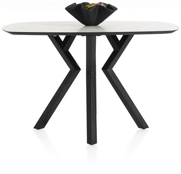Xooon Masura bartafel ovaal - 150 x 105 cm - (hoogte 92 cm) - wit  Eettafel
