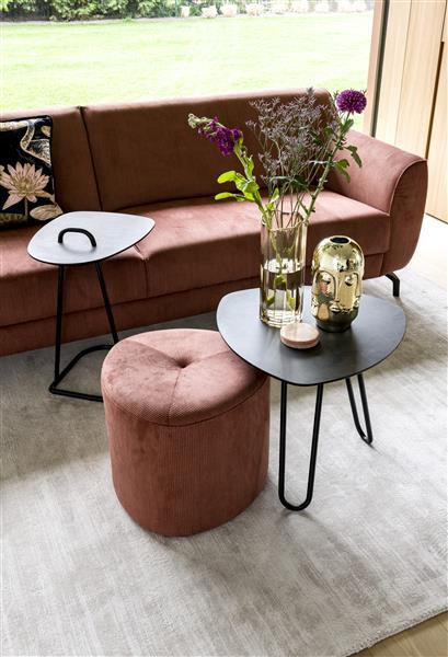 Xooon Masura salontafel laag 110 x 88 cm - wit  Bijzettafel