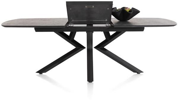Xooon Masura uitschuiftafel ovaal - 180 (+ 60) x 110 cm - antraciet  Eettafel