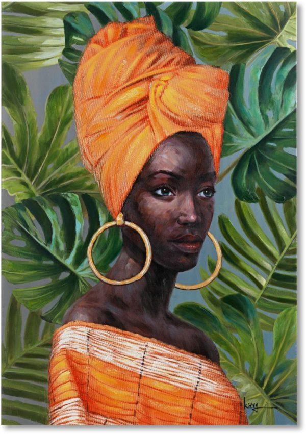 Feelings African lady wanddecoratie  Wanddecoratie