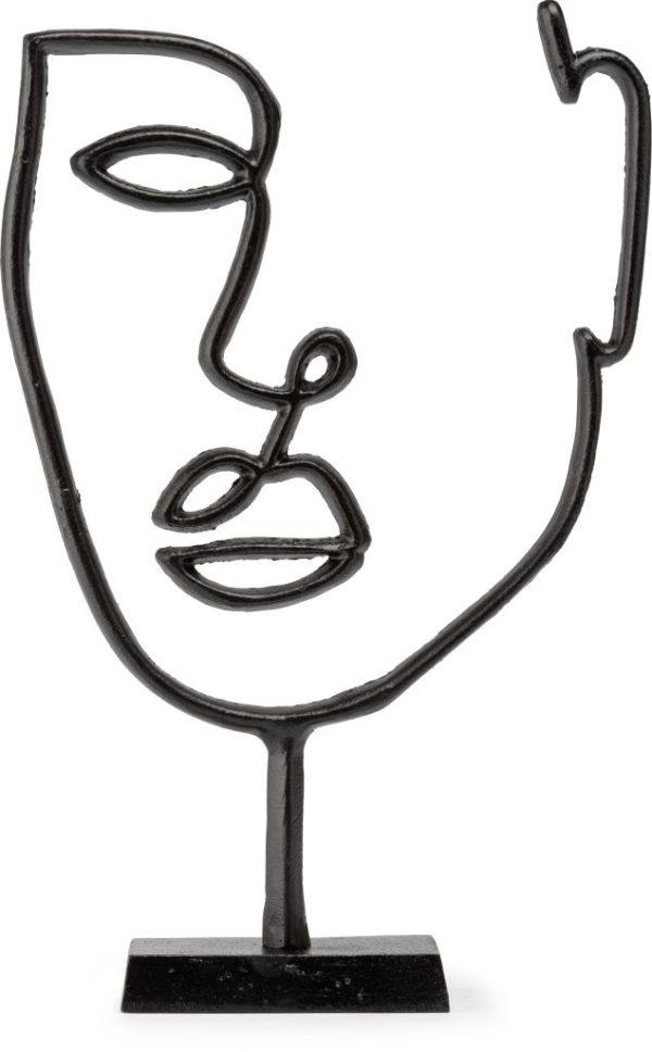 Feelings Face object Mat zwart Woonaccessoire