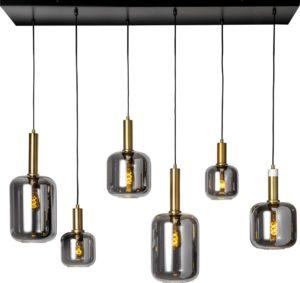 Feelings Liese hanglamp 6-lichts Mat goud / messing Hanglamp