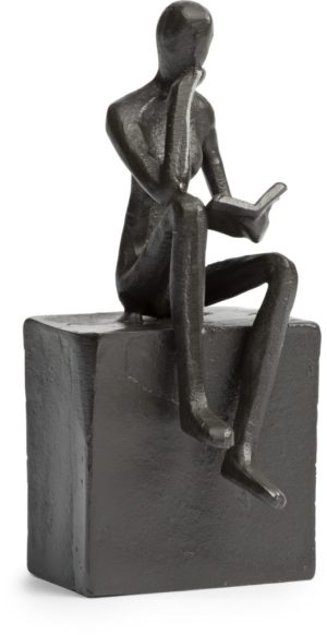 Feelings Man lezend beeld Brons Woonaccessoire