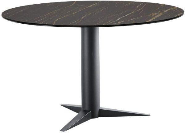 IN.House Eettafel Ranara rond keramiek zwart ÿ130cm  Eettafel
