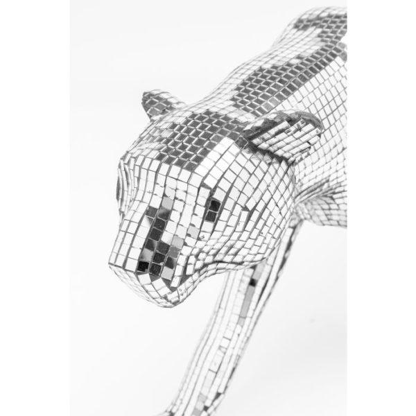 Beeld Figurine Mosaic Walking Leopard 32cm Kare Design Beeld 53613