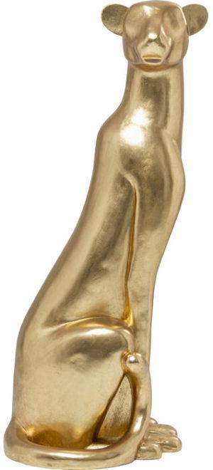 Beeld Figurine Sitting Leopard Gold 150cm Kare Design Beeld 53611