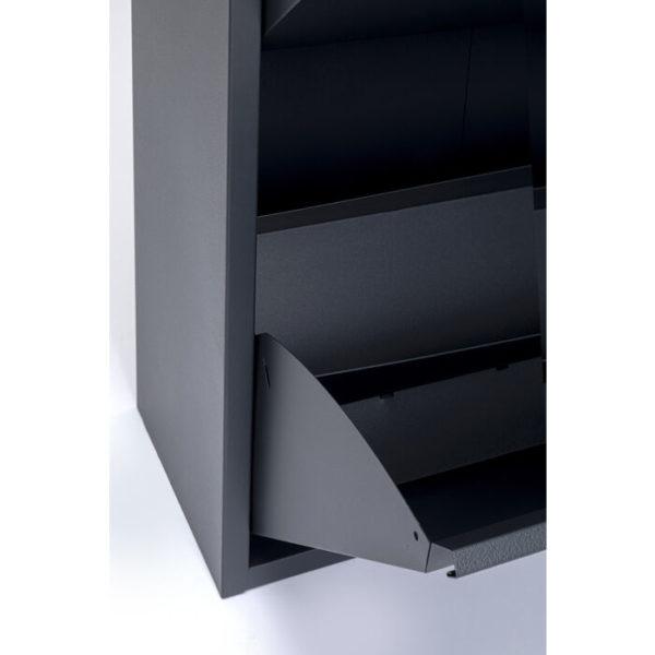 Schoenenkast Caruso 2 Double Anthracite Kare Design Schoenenkast 86215