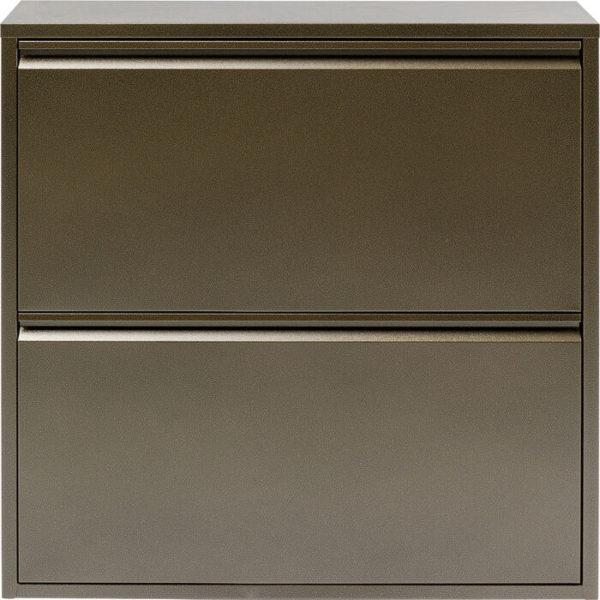 Schoenenkast Caruso 2 Double Bronze Kare Design Schoenenkast 86217
