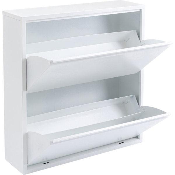 Schoenenkast Caruso 2 Double White Kare Design Schoenenkast 86216