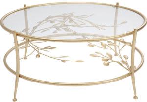 Table Leafline Gold Ø88cm Kare Design  86120