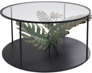 Table Palms Black Ø80cm Kare Design  86125