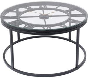 Table Roman Black Ø76cm Kare Design  86185