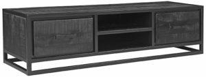 LABEL51 Tv-meubel Chili - Zwart - Mangohout Zwart Tv-meubel|Tv-dressoir