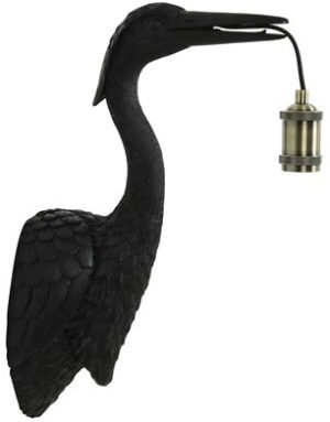 Pronto Wonen Wandlamp mat zwart  Lamp