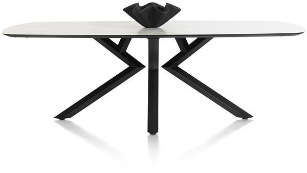 Xooon Masura eetkamertafel ovaal - 240 x 110 cm - wit  Eettafel