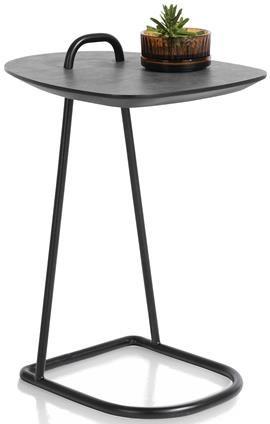 Xooon Masura laptop-tafel 55 x 48 cm - antraciet  Bijzettafel
