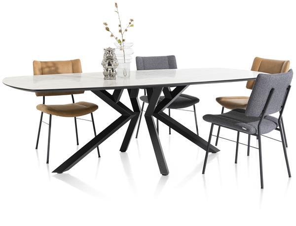 Xooon Masura salontafel hoog 68 x 67,5 cm - wit  Bijzettafel