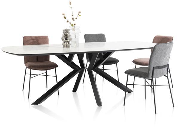 Xooon Masura salontafel laag 110 x 88 cm - antraciet  Bijzettafel