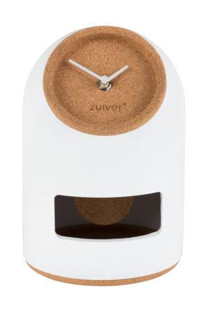 Clock Uno White Zuiver Klok ZVR8500053