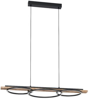 Boyal hanglamp - zwart - bruin - landelijk Eglo Hanglamp 99624-EGLO