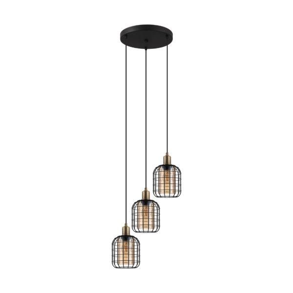 Chisle hanglamp - zwart - gebronsd Eglo Hanglamp 43499-EGLO
